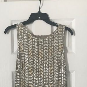 Alice + Olivia silver and gold Sequin dress size 2